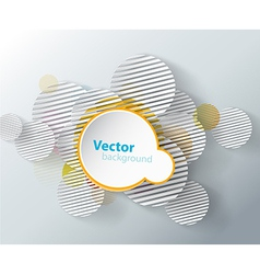 Abstract background with circles and place for vector image vector image