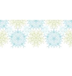 abstract plants mandalas horizontal border vector image vector image