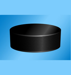 hockey puck on a blue vector image vector image