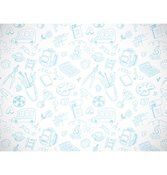 School background in drawing style vector image vector image
