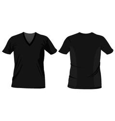 T-shirt templates vector image vector image