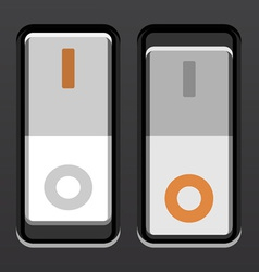 white toggle power switches vector image vector image