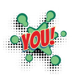 you text comic word vector image