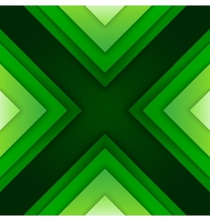 Abstract green triangle shapes background vector image
