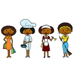 African-American Housewifes vector