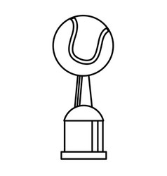 Award cup tennis sport outline vector
