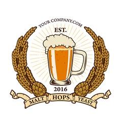beer label template vector image