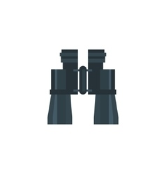 Binocular Field Glasses Flat Icon vector image