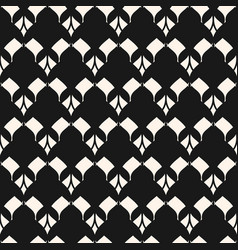 Black and white seamless pattern with rhombuses vector