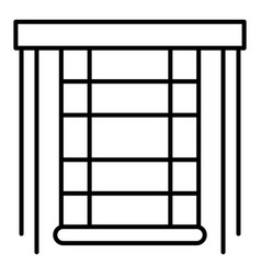 Blind window icon outline style vector