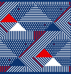 Blue and white stripes geometric seamless pattern vector