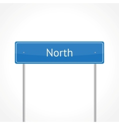 Blue north traffic sign vector image