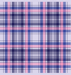 Blue pixel check plaid seamless pattern vector