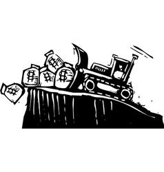 Bulldozing money vector