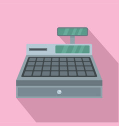 cash machine icon flat style vector image