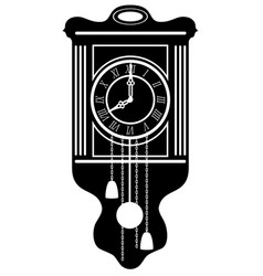 Clock old retro vintage icon stock vector
