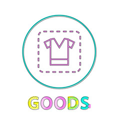 clothing sign linear outline vector image