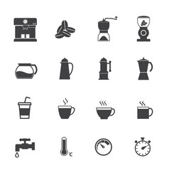 Coffee maker icons set flat design for infographic vector