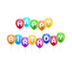 congratulations happy birthday heavens balls vector image