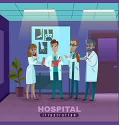 Doctors in hospital vector