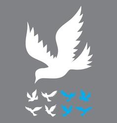 Dove flying vector