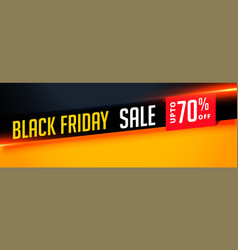 Elegant black friday sale banner with offer vector