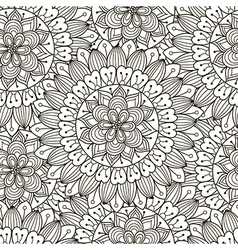 Floral ornament seamless pattern vector