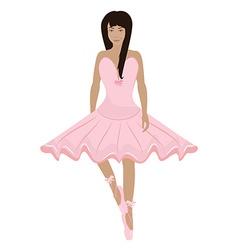 Girl ballerina character vector image