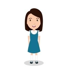 Girl student uniform icon vector
