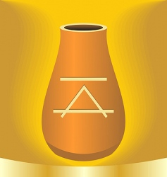 illustration ancient jug with symbol vector image