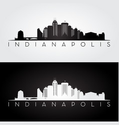 Indianapolis usa skyline and landmarks silhouette vector