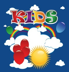 kids 1 vector image