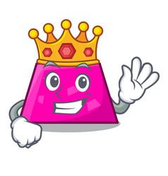 King trapezoid mascot cartoon style vector