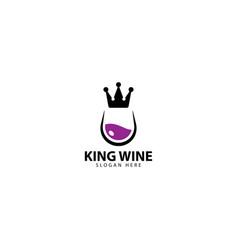 King wine logo design icon vector