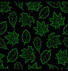 Leaves seamless green dark vector
