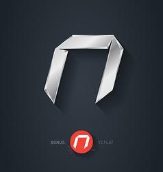 Letter N silver font Elegant Template for company vector image