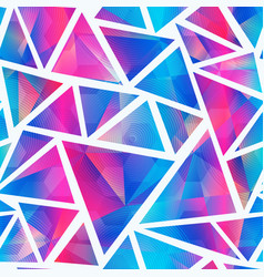 Light triangle seamless pattern vector
