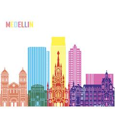 Medellin skyline pop vector