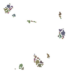 Mosaic map of cape verde islands of stones vector