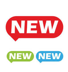 new label sign speech bubble vector image