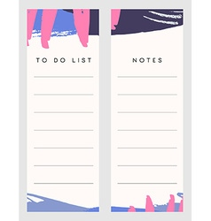 Notes and To Do List Templates vector