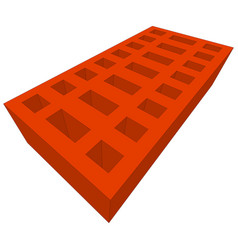 Orange brick on white vector