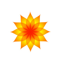 orange yellow fountain color flower symbol design vector image