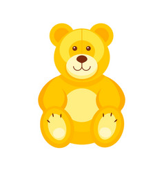 pretty teddy bear kids toys vector image