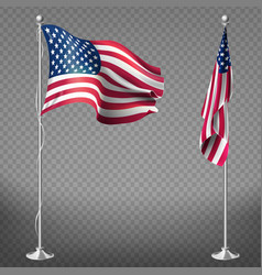 Realistic flags of united states of america vector