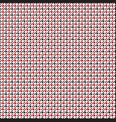 red black tattersall checkered pattern vector image