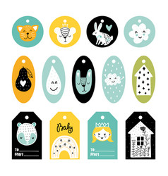 Scandinavian tags vector