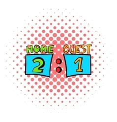 Scoreboard icon comics style vector