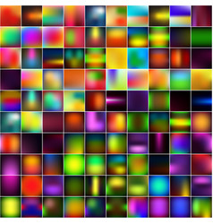 set of abstract bright blurred backgrounds vector image