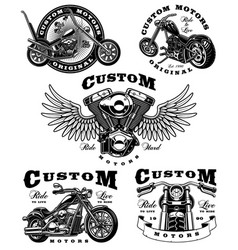 set of biker on white background 3 vector image